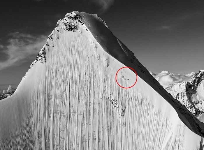 Deep In This Photo There Is A Man Plummeting Down The Mountain (4 pics)