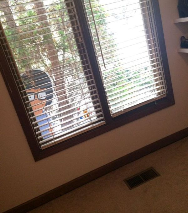Siblings Prank Each Other By Hiding Tina Belcher Cutout Around The House (5 pics)