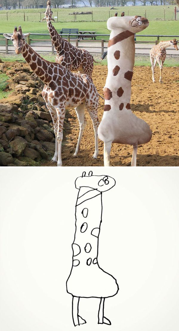 Dad Turns His 6-Year-Old Son's Drawings Into An Adorable But Creepy Reality (27 pics)