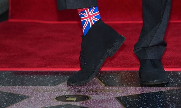 House Star Hugh Laurie Finally Got A Star On The Hollywood Walk Of Fame (2 pics)