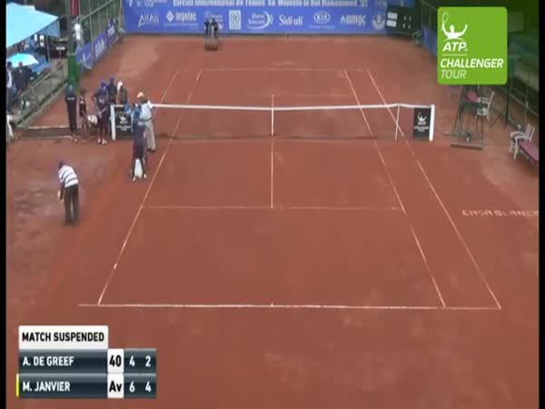 Drying Out A Tennis Court In Morocco By Setting It On Fire