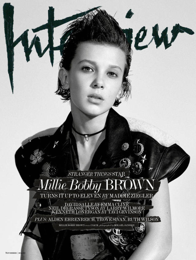 Eleven From Stranger Things Poses For Epic First Magazine Cover (10 pics)