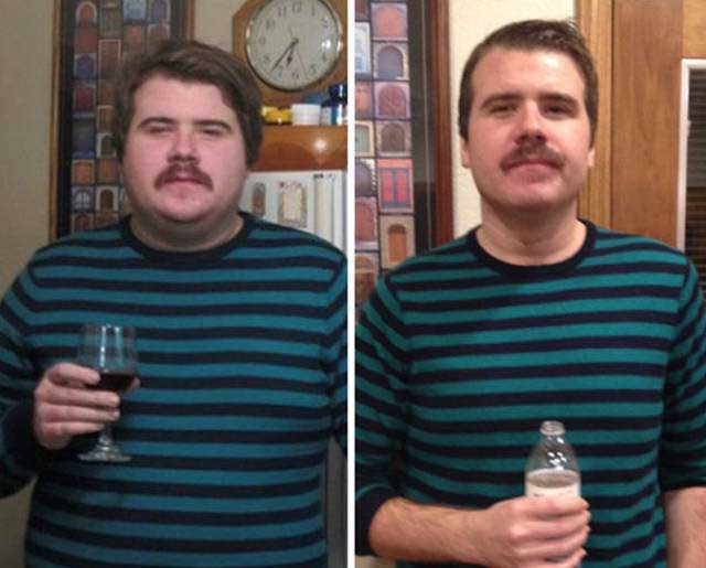 Heavy Drinkers Go Through Impressive Transformations After Giving Up Alcohol (45 pics)
