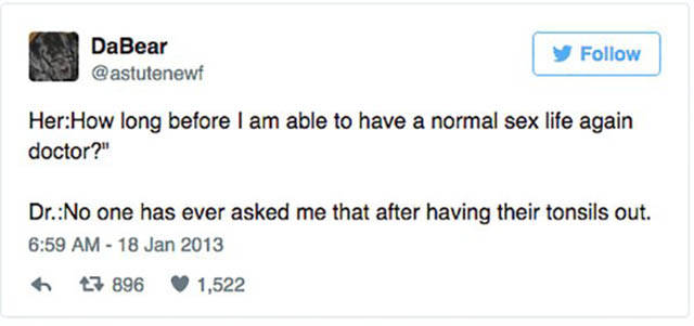 Hilarious Tweets About Sex That You Can't Help But Laugh At (30 pics)