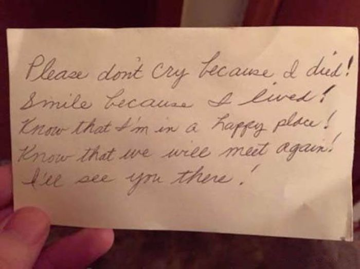 This Husband Found A Note From His Late Wife, And It Will Hit You In The Feels (5 pics)