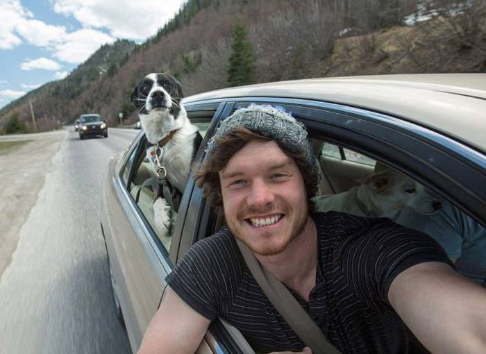 This Photographer Takes Awesome Selfies With Animals (13 pics)
