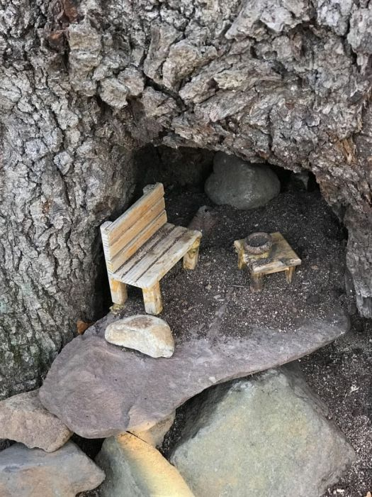 Man Finds A Tiny Village In The Woods (17 pics)