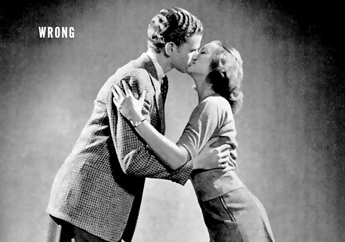 Guide From The 1940s Reveals The Correct Way To Kiss (4 pics)