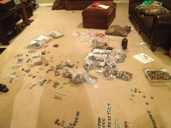 Guy Turns His Bottle Cap Collection Into Something Amazing (15 pics)