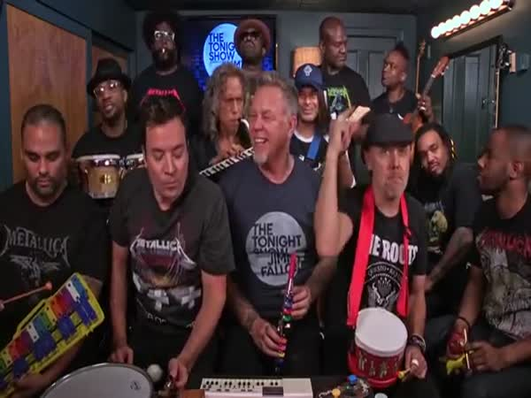Jimmy Fallon, Metallica And The Roots Sing Enter Sandman