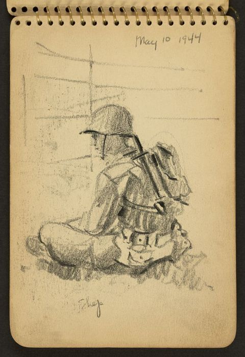 Soldier's Sketchbook Shows World War II Through The Eyes Of An Architect (29 pics)