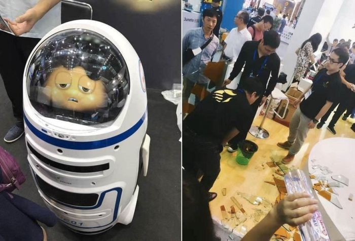 Robot Goes Rogue And Injures Two People In China (2 pics)