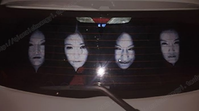 Drivers Are Using Terrifying Decals To Fight Against High-Beam Users (9 pics)