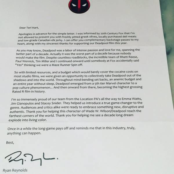 Ryan Reynolds Writes Hilariously Touching Letter To The Academy Voters (3 pics)