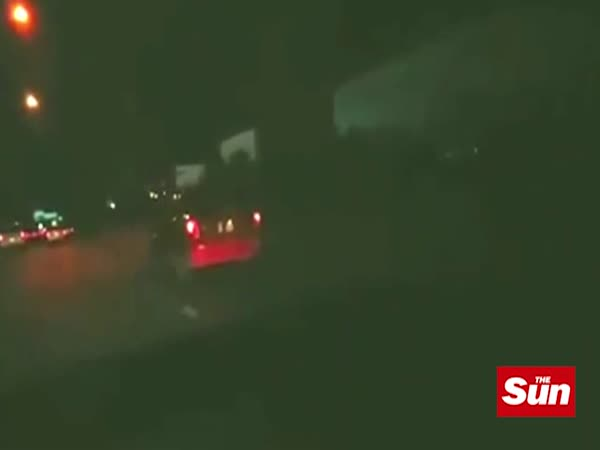 Footage Shows Ghost Girl Sitting On Top Of Car In Bangkok, Thailand