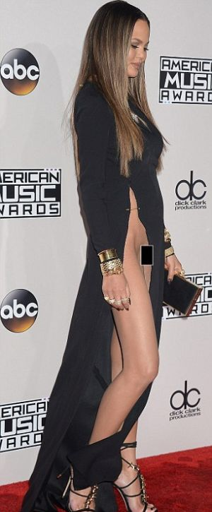 Chrissy Teigen Shows Off Some Serious Skin At The Amas 4