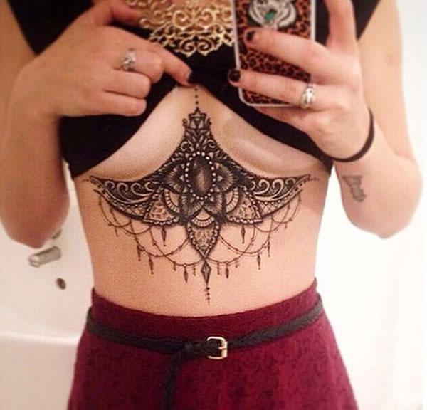 Underboob Tattoos That Are Sure To Impress (23 pics)