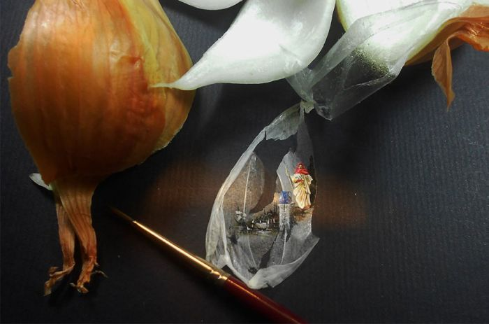 Breathtaking Tiny Paintings On Random Everyday Objects (31 pics)