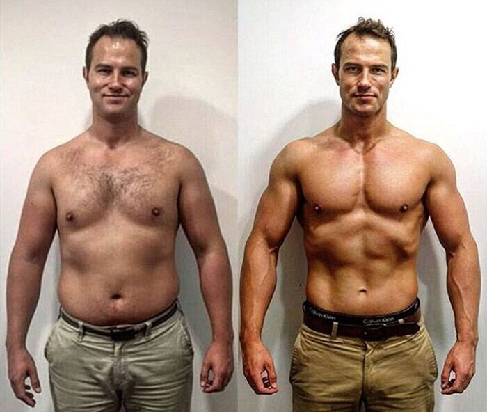 Father Goes From Dad Bod To Greek God In 15 Weeks (4 pics)