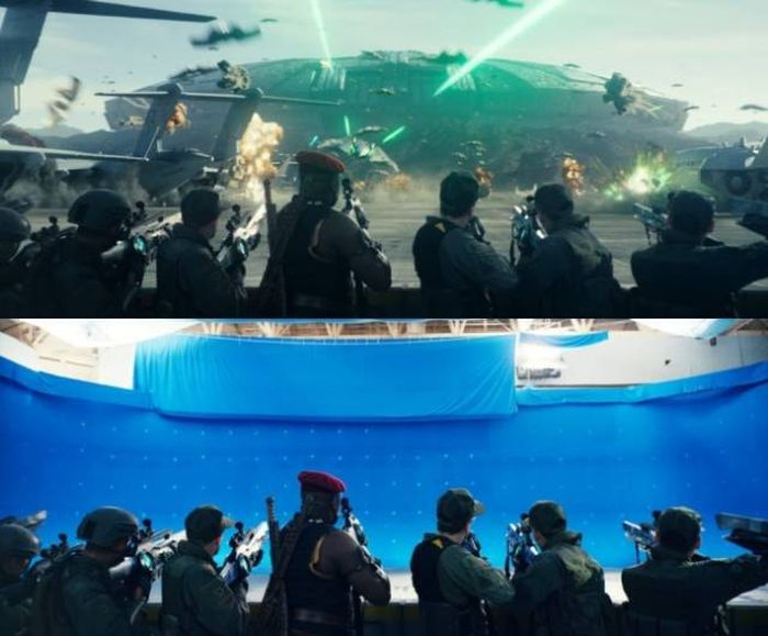 Incredible Behind The Scenes Pics Show How Movie Magic Is Made (18 pics)