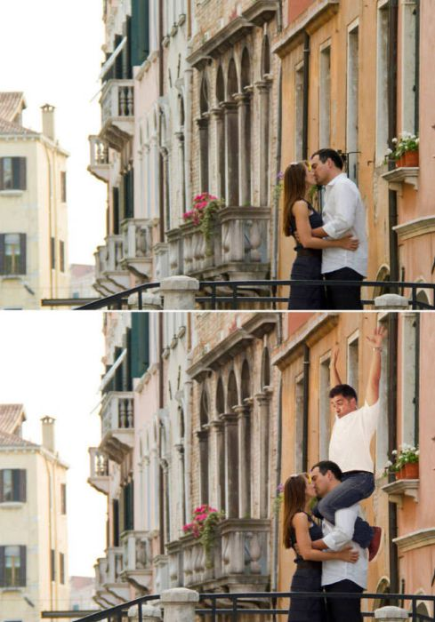 Guy Hilariously Photoshops Himself Into Awkward Stock Photos (14 pics)