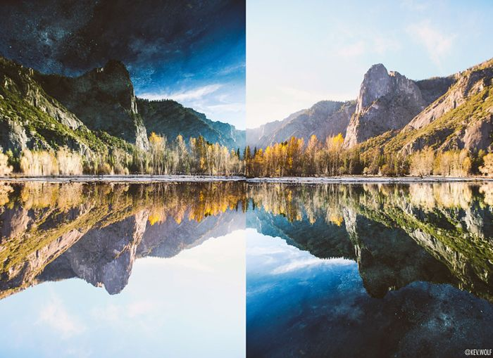 Photographer Finds Something Incredible After Flipping His Photo (3 pics)