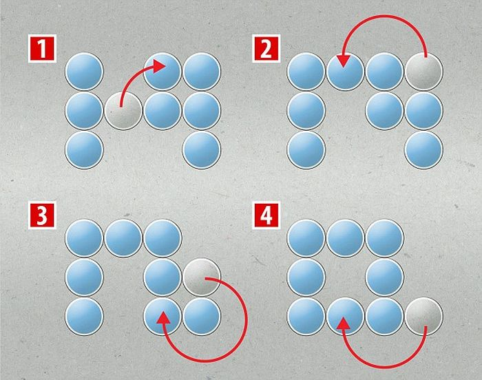 See If You Have What It Takes To Solve This Puzzle In Four Moves (2 pics)