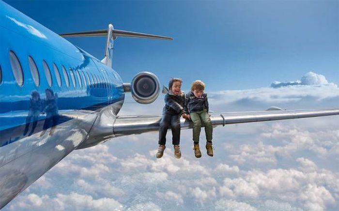 Dad Uses Photoshop To Place His Son In Surreal Scenarios (35 pics)