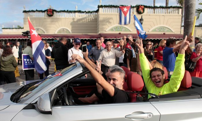 People Take To The Streets To Celebrate The Death Of Fidel Castro (11 pics)