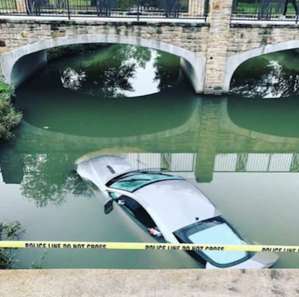 Dad's Aston Martin Ends Up In A River After Teens Take It For A Joy Ride (4 pics)