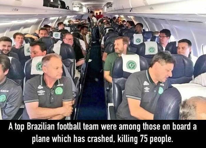 Plane Carrying Brazilian Football Team Crashes And Kills 75 People (5 pics)