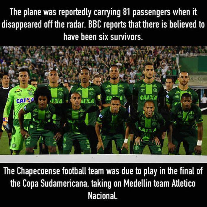 Plane Carrying Brazilian Football Team Crashes And Kills 75 People (5 pics)