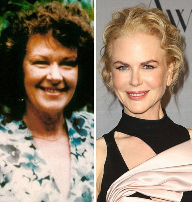 Side By Side Comparisons Of Celebs Over 40 And Their Mothers At The Same Age (14 pics)