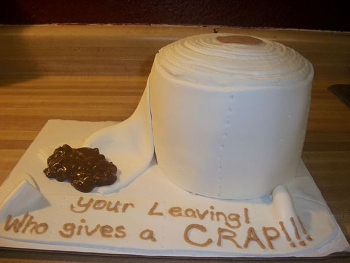 Hilarious Office Farewell Cakes That Will Crack You Up (30 pics)