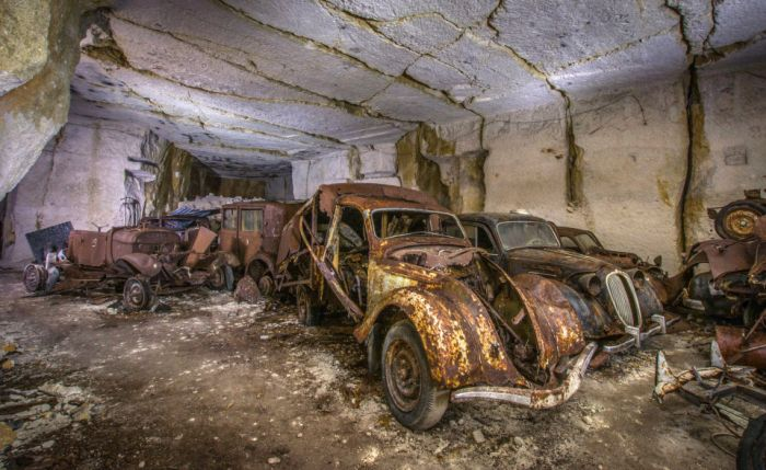 World War Two Era Cars Discovered Underground After 80 Years (11 pics)