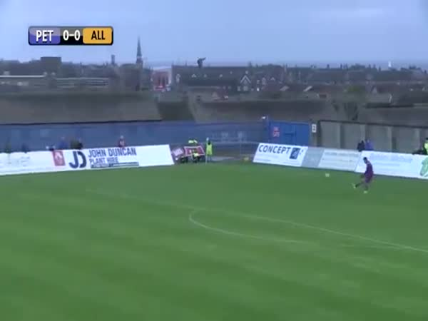 Keepers Goal Kick Strikes Flying Seagull