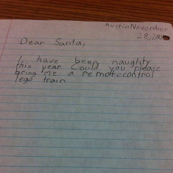 Some Of The Funniest Letters That Kids Have Ever Written To Santa (34 pics)