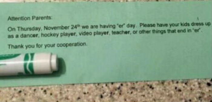 """Kid Wears Inappropriate Costume To """"Er"""" Day (2 pics)"""