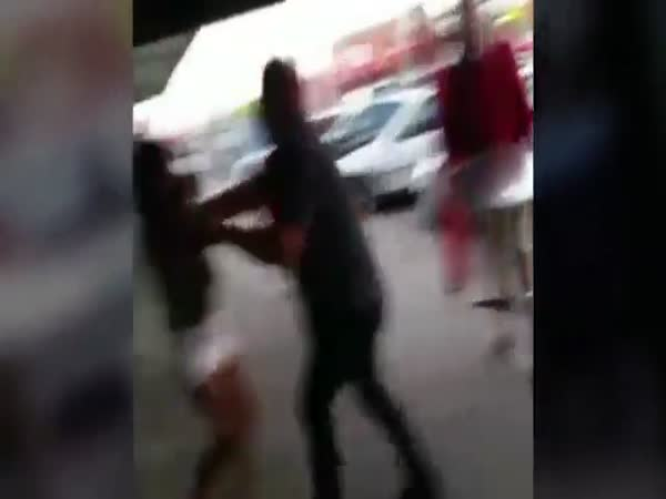 Women Attack Each Other With Chairs