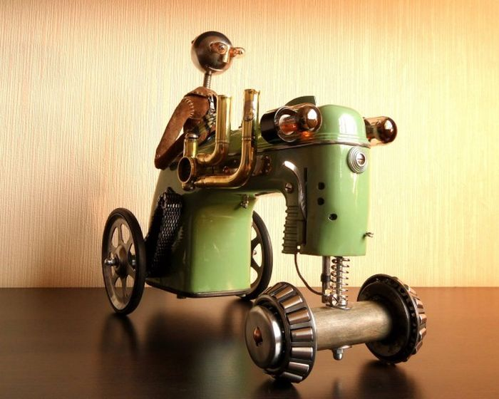 Awesome Steampunk Robots By Mashinarius (44 pics)