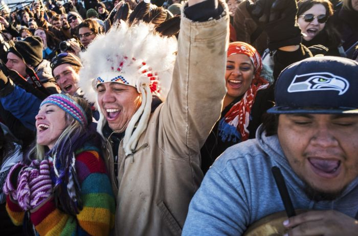 Joyous Images Show People Celebrating At Standing Rock (6 pics)