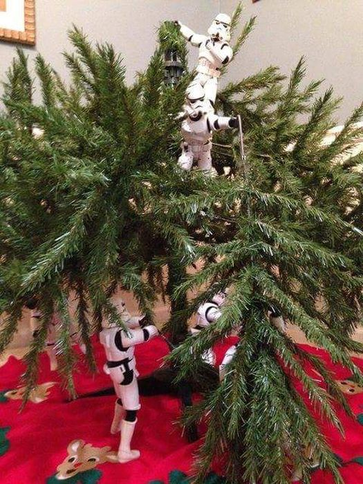 Stormtroopers Set Up The Tree For Christmas (10 pics)