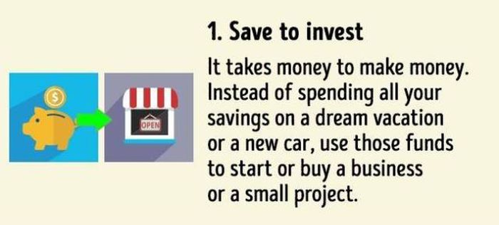 10 Easy Tips To Help You Become Rich And Successful (infographic)