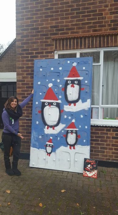 Husband Makes Wife A Giant Advent Calendar For Christmas (17 pics)