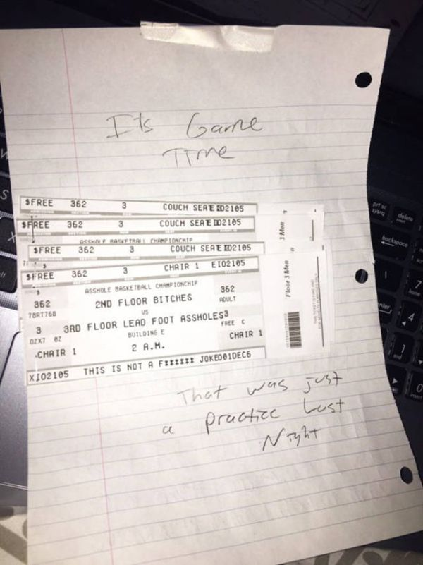 Angry Person Gets Wrecked After Writing Note To Their Loud Neighbors (3 pics)