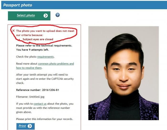 Asian Man Reacts After New Zealand Rejects His Passport Photo (2 pics)