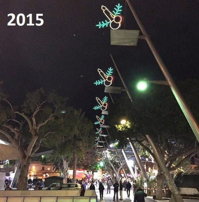 Greece Has Some Very Awkward Christmas Decorations (2 pics)
