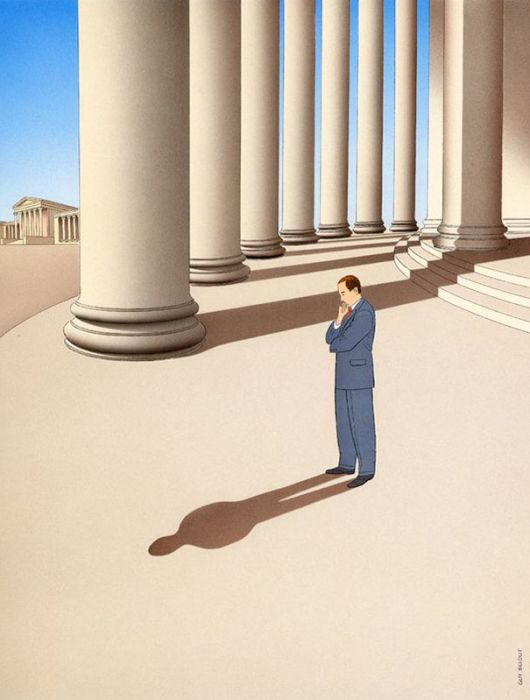 Guy Billout's Surreal Illustrations Will Make You Look Twice (45 pics)