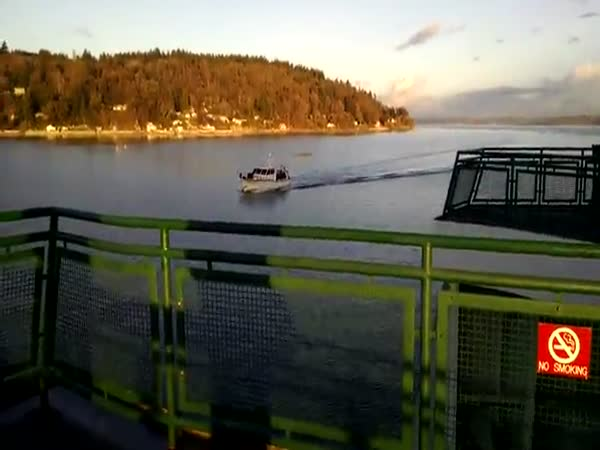 Oblivious Boat Captain Plows Into A Ferry