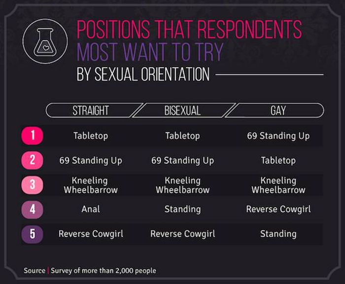 Surveys Reveal Which Sex Positions People Prefer In Europe And The U.S. (11 pics)